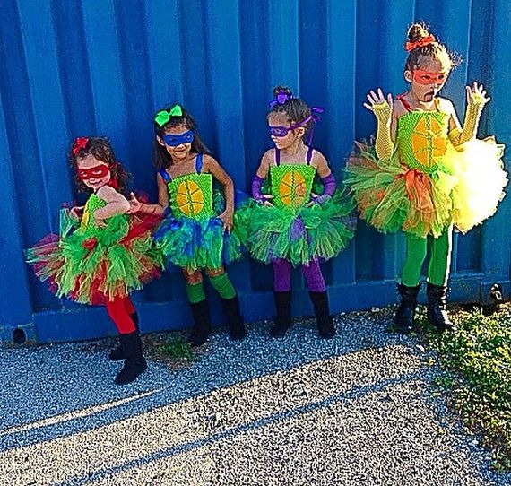 Purple turtle tutu dress TMNT inspired ninja by PamperedPaisley