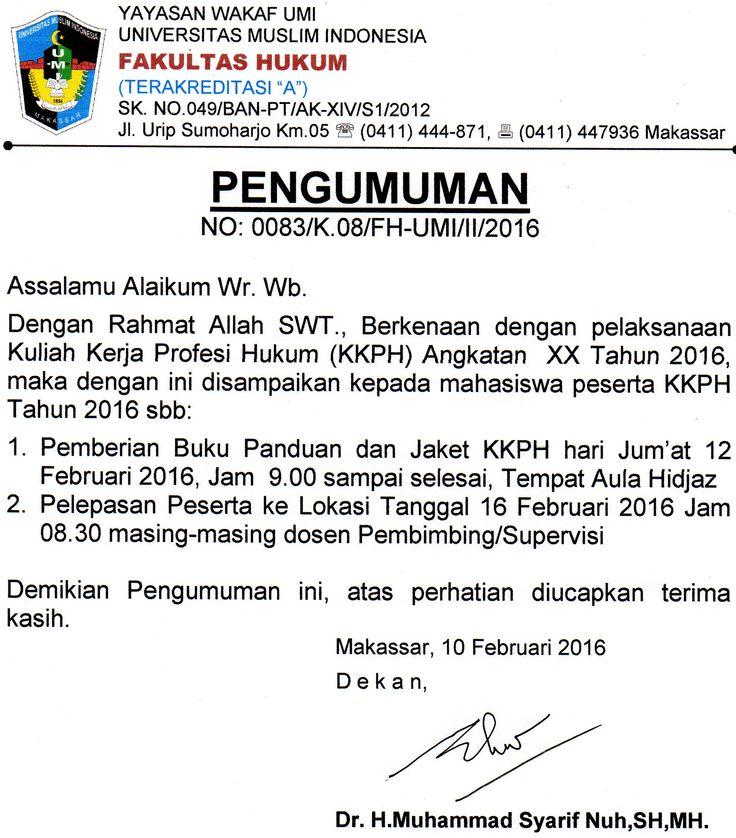 UPDATE INFO KKPH ANGKATAN XX  2016