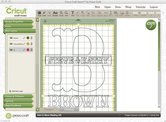 Vinyl Craft Ideas | Wedding Crafting with Cricut} Vinyl Name/Monogram Sign | The Plunge ...