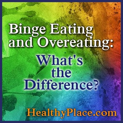 Binge eating disorder definition. Discover the difference between binge eating and overeating and how binge eaters differ from overeaters.