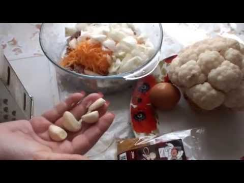 рецепт очень вкусной цветной капусты с мясом и сыром, запеченной в духовке…