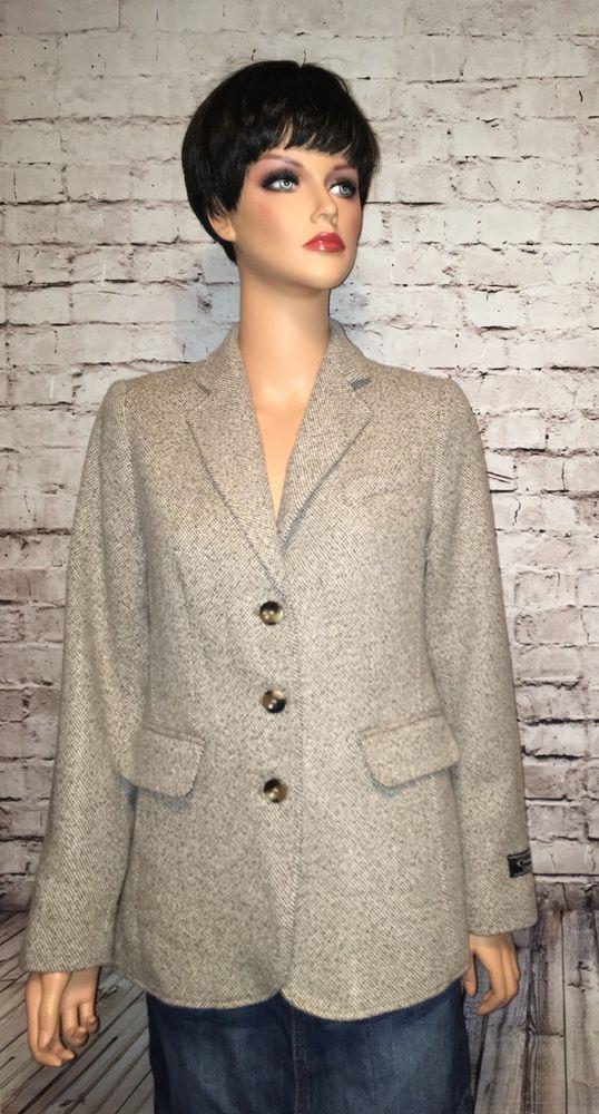 NWOT $199 LL Bean Cashmere Wool Blazer Brown Tweed Size 6 Excellent Condition #LLBean #Blazer