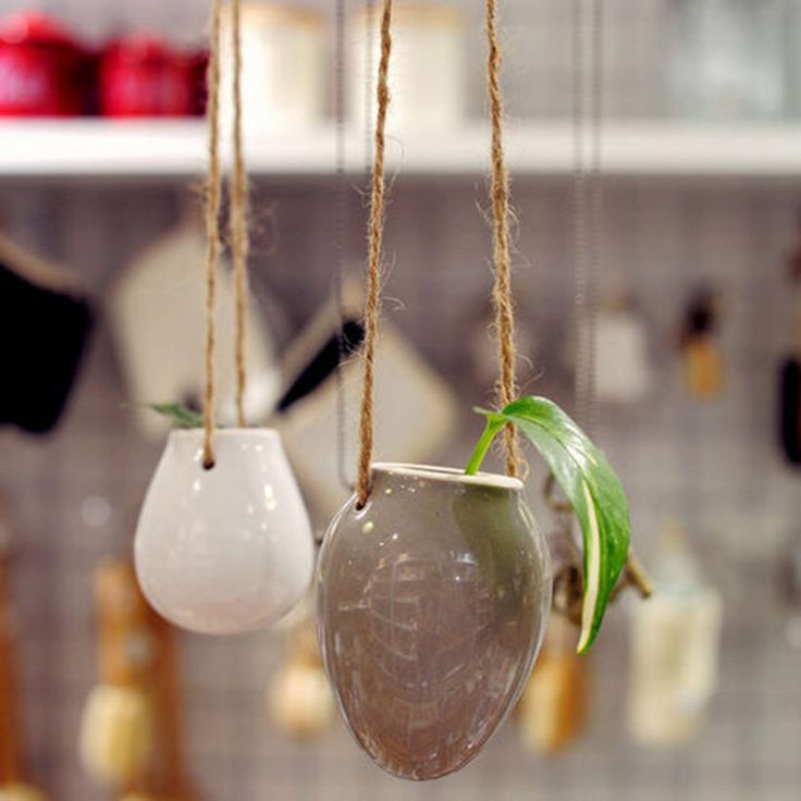 Яйцо цветочные горшки цветочные горшки висячие вазы украшения дома Сад настенные украшения