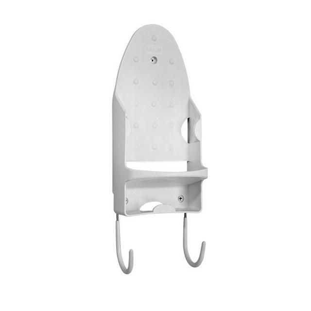 SODIAL Wall Mounted Electric Rest Stand Heat-Resistant Rack Hanging Ironing Board Holder Home Dryer Accessories White