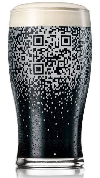 Guinness has teamed up with advertising agency BBDO to create a pint glass QR code, that can only be read when the glass is filled with the black stuff. But wait – it's not just a clever idea with no substance that will return zero financial benefit to the drinks giant. Oh, no. You see, scanning the code allows you to Tweet about your pint, update your Facebook status, check in via Foursquare, download coupons and promotions and invite your friends to join you.