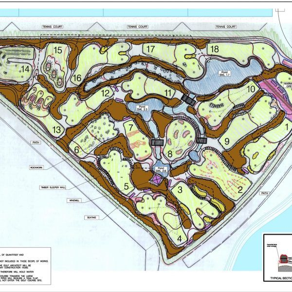 Mini Golf Creations, overview plan