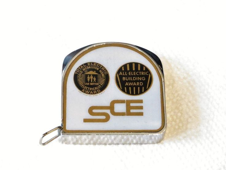 SOUTHERN CALIFORNIA EDISON VINTAGE GOLD MEDALLION HOME SCALE TAPE MEASURE #UNKNOWN