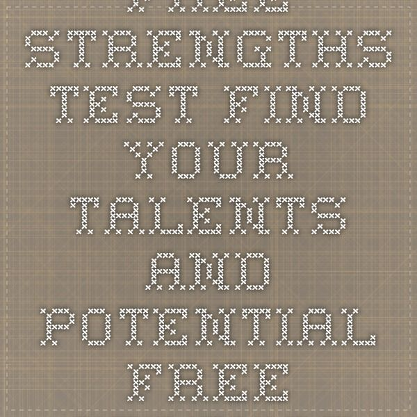 Free Strengths Test. Find Your Talents and Potential. - Free Strengths Test - Find Your Talents and Potential