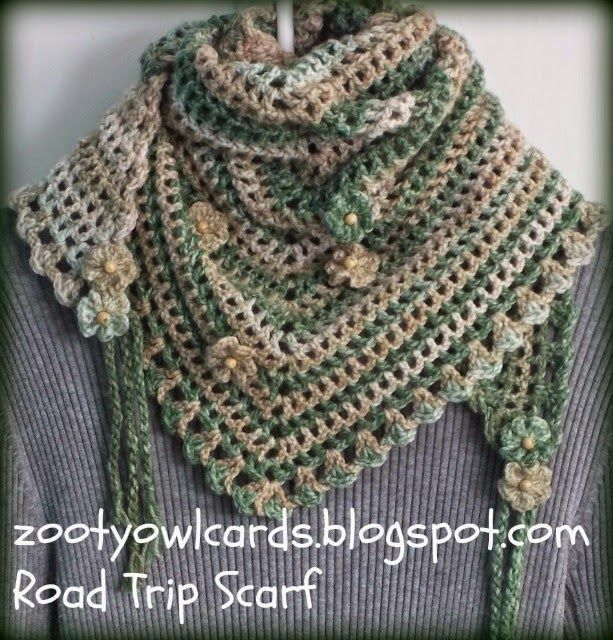 road trip scarf. Simple one row repeat. Free crochet pattern