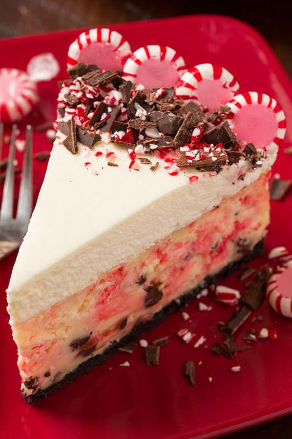 Tartas de queso 'sin excusas': tarta de queso con extracto de menta. Peppermint cheesecake