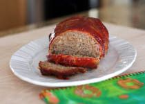Sliced Meatloaf on Platter