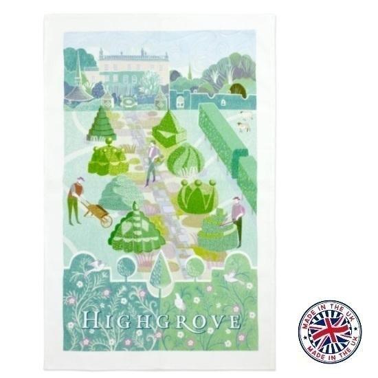 【Highgrove】Topiary Tea Towel ハイグローブ トピアリー ティータオル