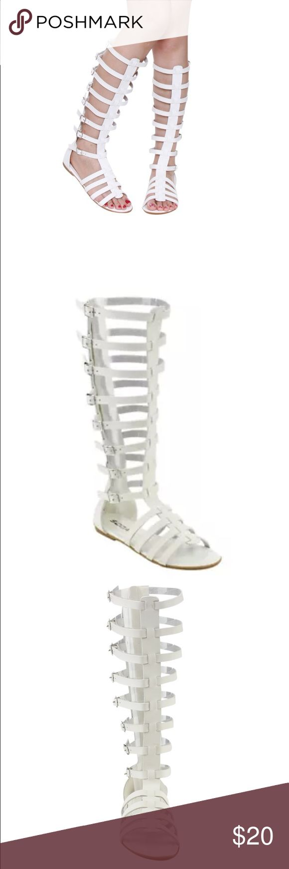 New White Gladiator Sandals New White Gladiator Sandals bought but never wore!! These are too cute ! Soda Shoes Sandals