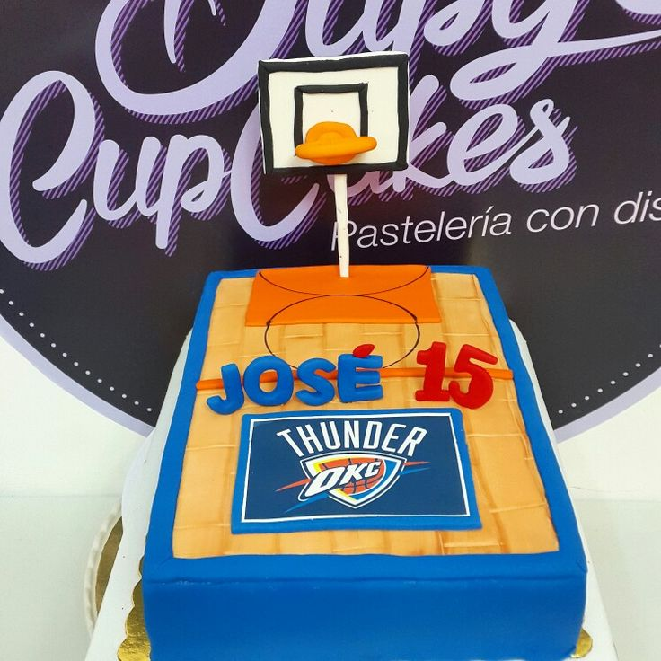 Basketball cake Oklahoma City