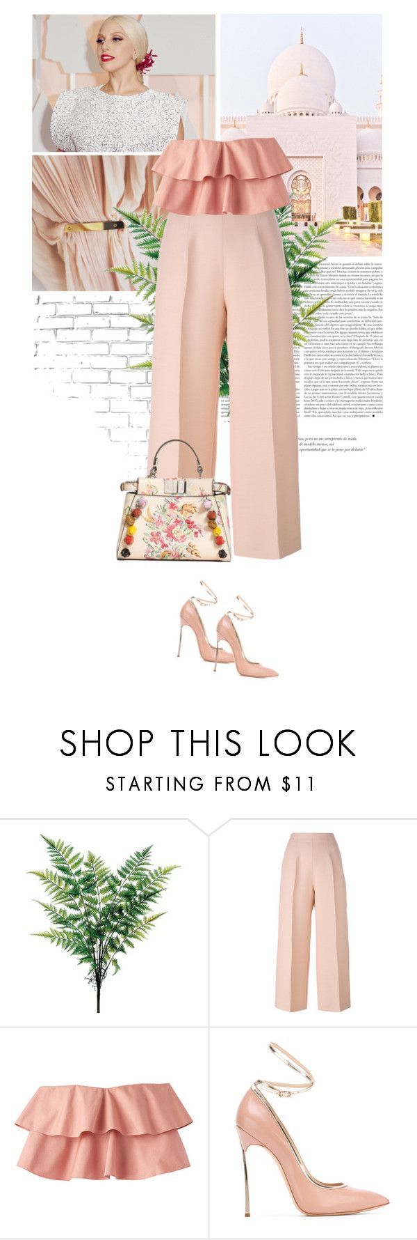"""""""soft.pink."""" by eve-angermayer ❤ liked on Polyvore featuring WALL, GET LOST, Fendi and Casadei"""