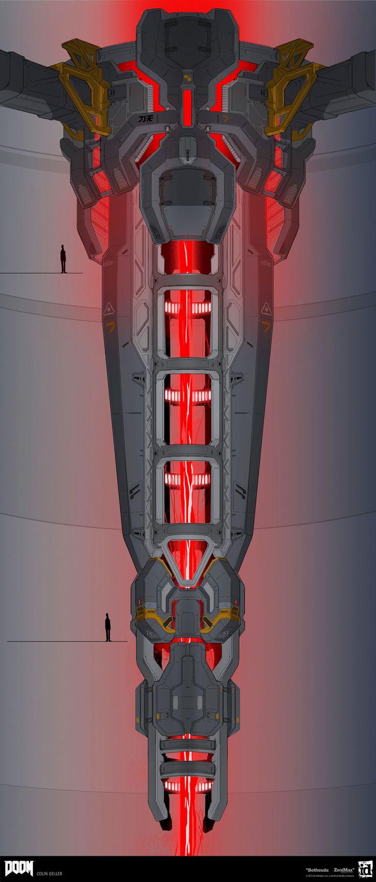 ArtStation - DOOM - Argent Tower Core, Colin Geller