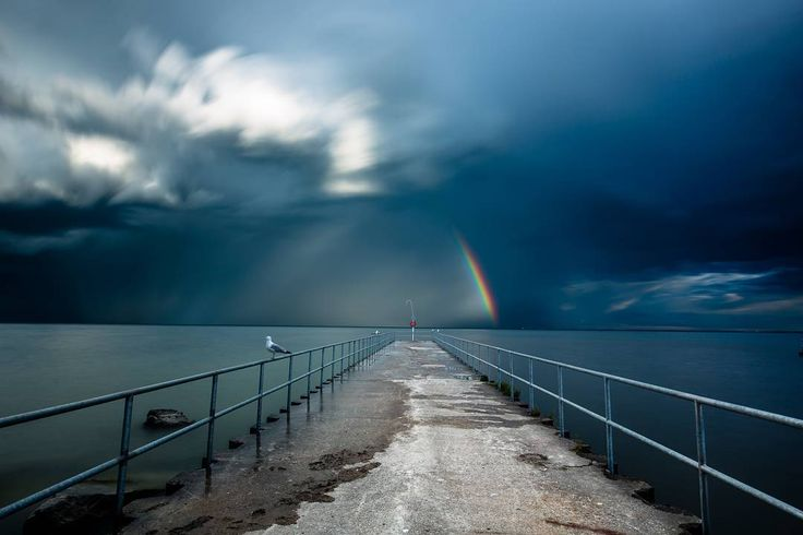 One of my favourite images... along the stunning #tctrail The storm flew past us on lake Ontario leaving behind a rainbow... Shot with #canon 5d mark 3  canon 16 - 35 f2.8L II  #leefilters big stopper  #mefoto #globetrotters