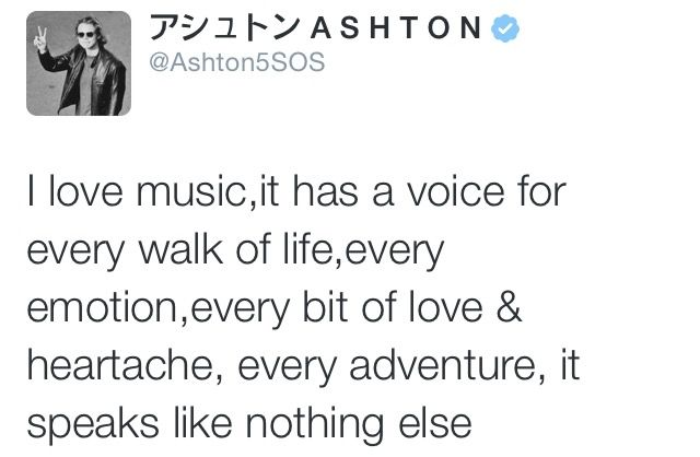 Beautiful tweet :) he's completely right...music is a language that speaks when words can't