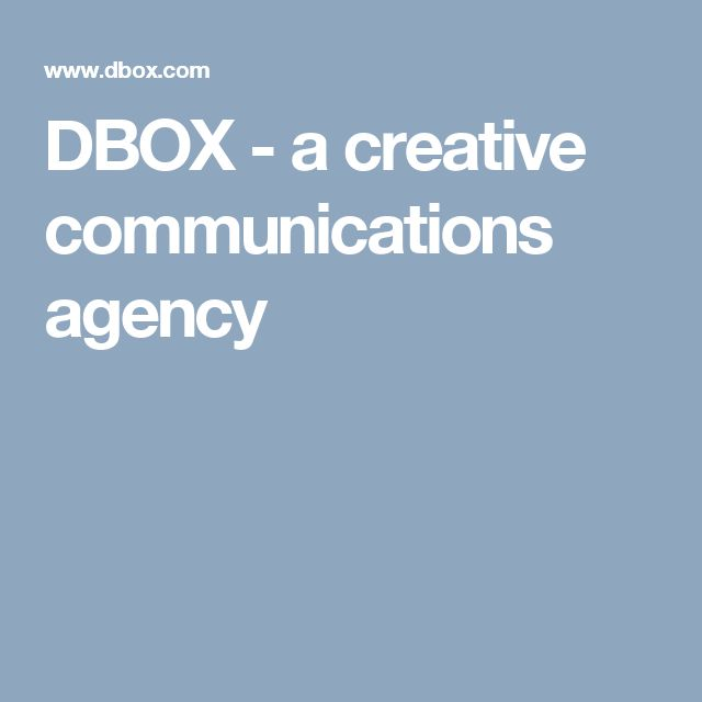 DBOX - a creative communications agency