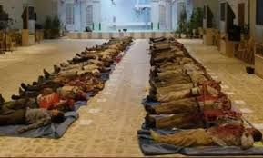 Bodies of the 52 PMOI members killed by the Iraqi and Qods forces on September 1, 2013.