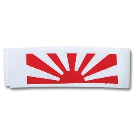 "The rising sun has been a symbol of the Japanese culture for a long time, and this headband is the perfect addition to any martial arts uniform.     Product highlights:    White lightweight breathable cotton material  Traditional red ""Rising Sun"" design  Machine washable!"