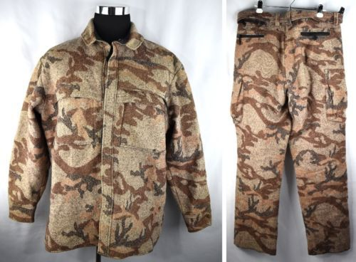 EXCELLENT-Sleeping-Indian-Wool-Hunting-Jacket-Shirt-XL-amp-Timberline-Pants-38