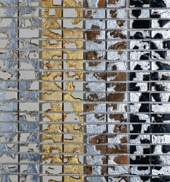 Gold and silver marble mosaics