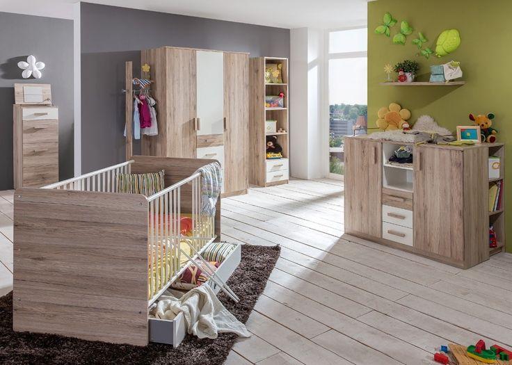 Cute Babyzimmer komplett Cariba Eiche mit Wei Buy now at https