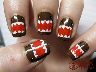 Gir and Domo | have been in a crazy domo mood today so i had to have a domo picture ...: Domo Nails, Domonails, House With, Style, Nailart, Nail Designs, Nail Ideas, Nail Art