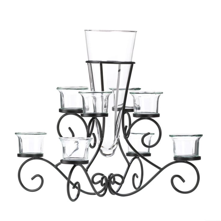 Buy Scrollwork Candle Stand With Vase at wholesale prices in bulk.
