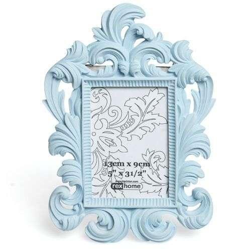 Pale Blue Rococco Style Photo Frame - Photo