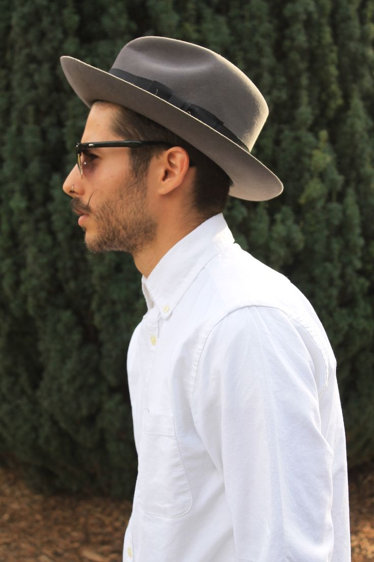 5c16451a This grey wide-brim fedora is LITERALLY the perfect staple… | Mens Fedora  Hats | Fedora Hat for Men, Mens Fedora Hat Street Style, Mens Widebrim  Fedora in ...