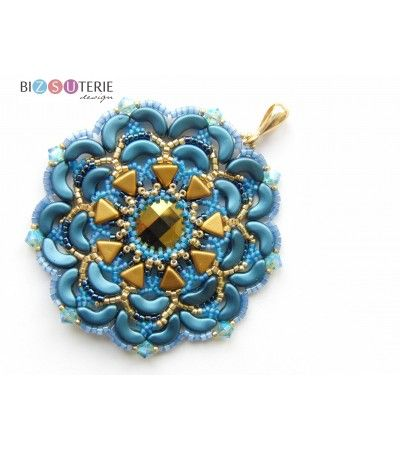 DIY bead pattern / tutorial with Khéops end Arcos par Puca beads