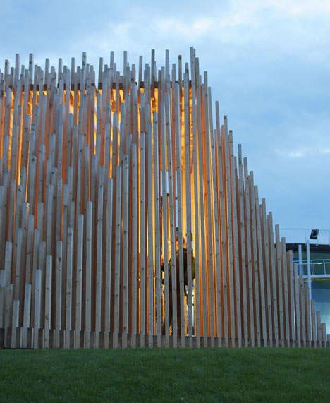 Buddhist Wooden Constructions - The Khor I temporary theatre by TAAT Looks Sliced and Avant-Garde (GALLERY)