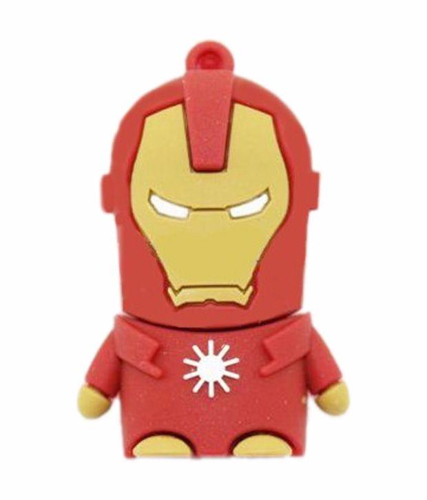 Iron Man Shape Designer Pen Drive http://www.snapdeal.com/product/microware-4-gb-iron-man/1268230263
