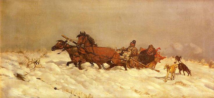 Józef Chełmoński Zima w Polsce (Winter in Poland)