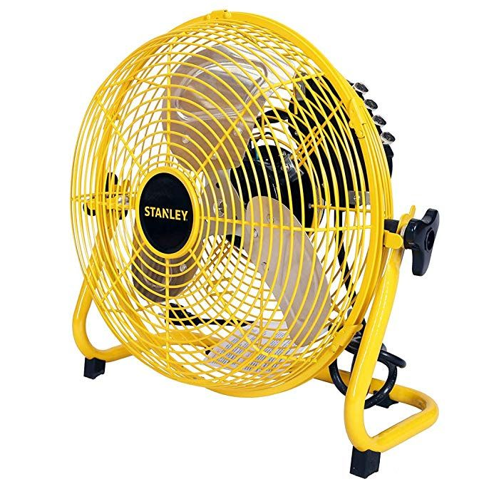 Stanley St 12f High Velocity Direct Drive Floor Fan 12 Yellow