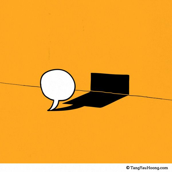 充滿寓意畫中有話的插畫 Tang Yau Hoong | ㄇㄞˋ點子靈感創意誌 謊話