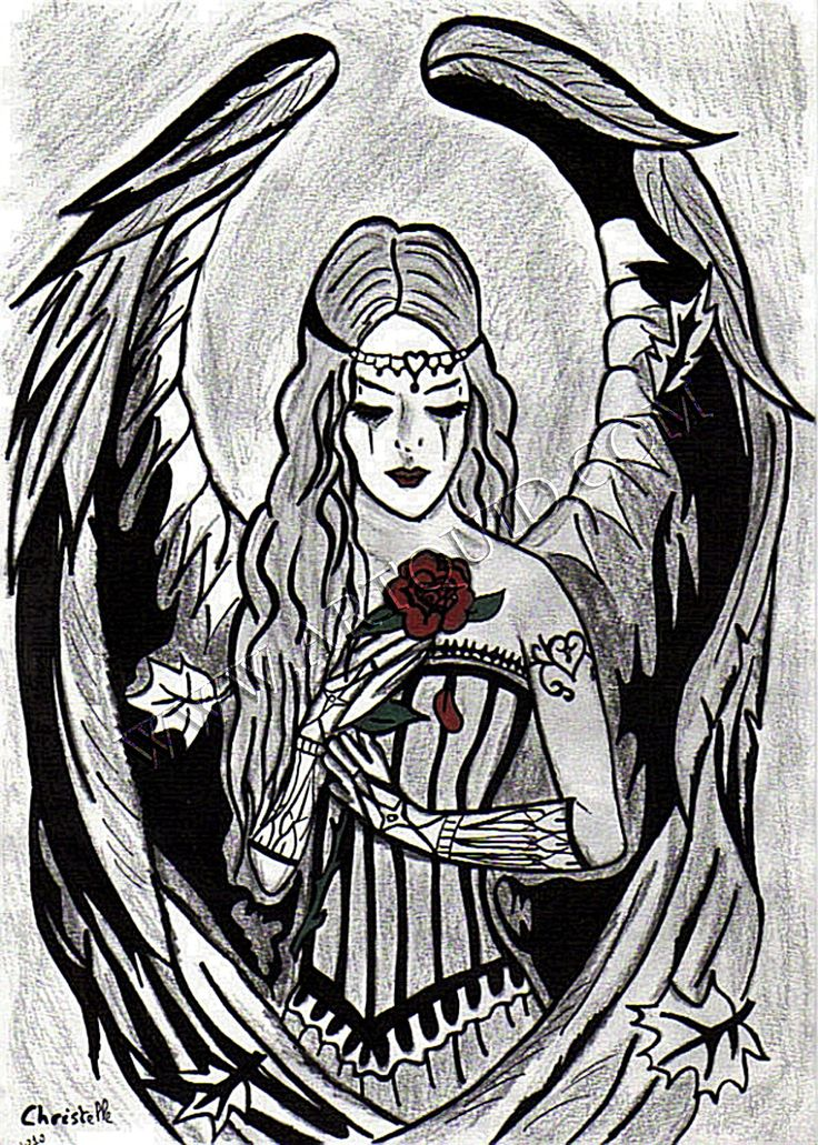 Gothic Angel Drawings | Drawings, Angel Rose Gothic, Page 3853, Contemporary Art