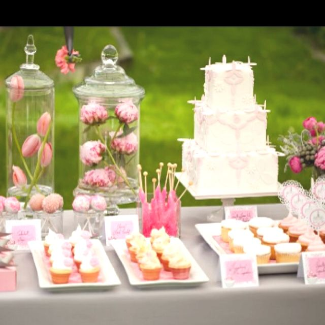 Pink, grey and white baby shower