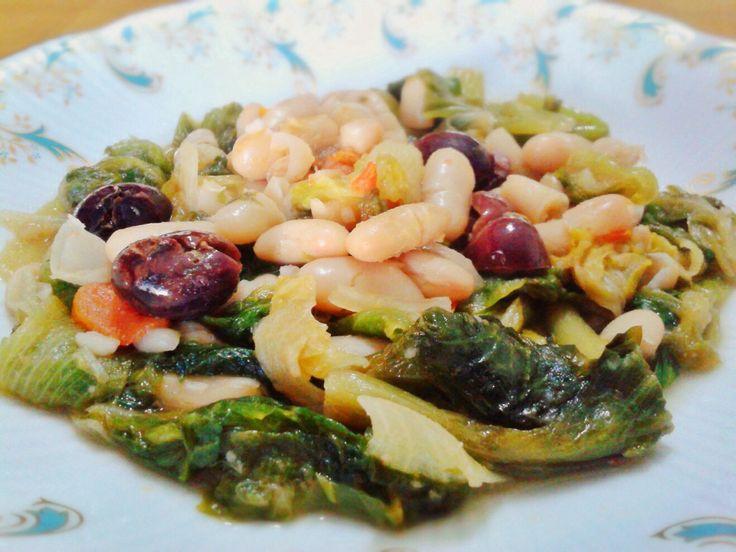 Zuppa di fagioli e scarole -PRIMI -ZUPPE
