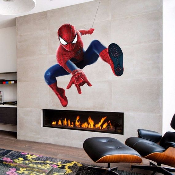 Full Color Spiderman Full Color Decal, Spiderman Full color sticker, Spiderman wall Sticker Decal size 33x39
