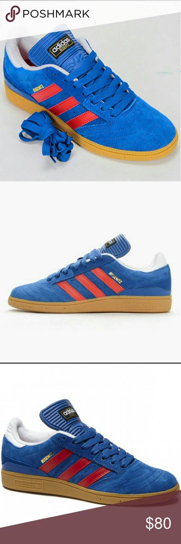 BUSENITZ PRO SHOES ADIDAS Busenitz Original Men's Size 9.5 Blue Brand New With Box adidas Shoes Sneakers