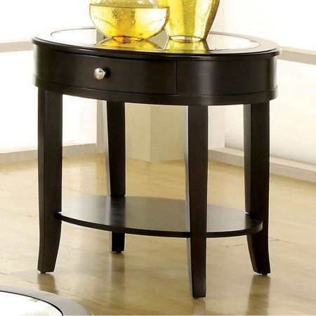 Silver Mist Contemporary Style End Table, Brown