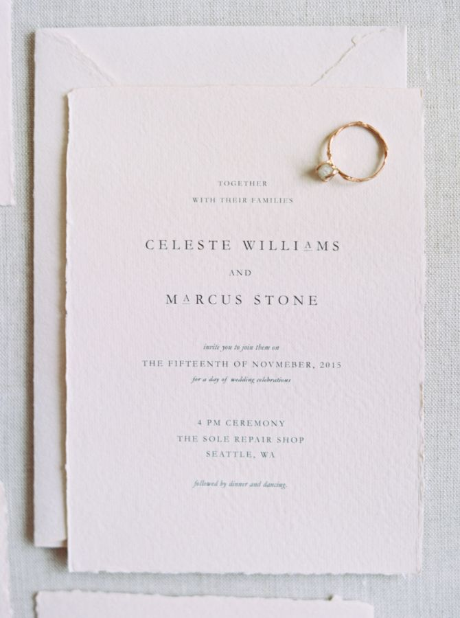 sample of wedding invitations templates%0A Stylish   Modern Winter Wedding Inspiration