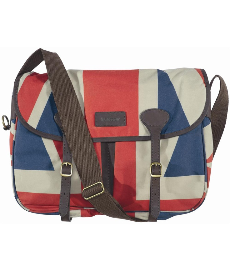 Barbour Union Jack Dry Fly Bag. Waxed cotton.