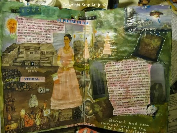 """art journal page """"Le pietre di Ica"""" art tra passato e futuro"""
