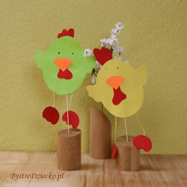 Umění třídy pro děti v mateřské škole - 'Den otevřených dveří - jaro' - kuřata z papíru
