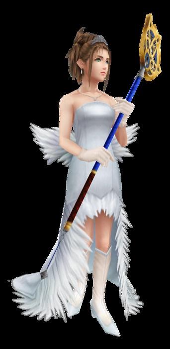 cosplay Yuna wedding dress