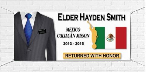 Personalized LDS Missionary Homecoming Banner IMAGE
